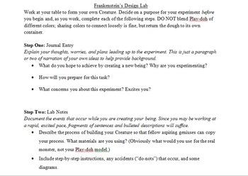 Frankenstein's Design Lab Assignment