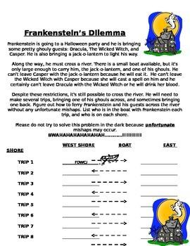 Frankenstein's Dilemma-Logic Puzzle