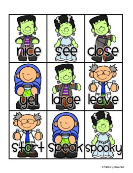 Halloween: Frankenstein's Laboratory Synonyms Match