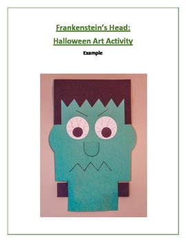 Frankenstein's Head: Halloween Art Activity