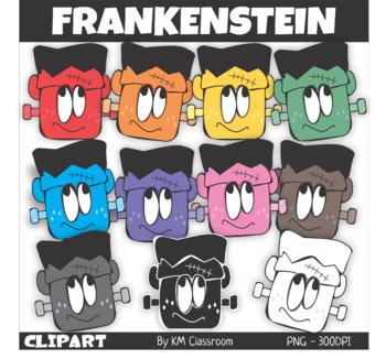 Frankensteins' Head Halloween Clip Art
