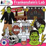 Frankenstein Halloween Clip Art | Test Tube, Chemistry Bottle, Science Equipment