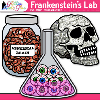 Frankenstein Halloween Clip Art: Spooky Graphics {Glitter Meets Glue}