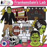 Frankenstein Halloween Clip Art {Test Tube, Chemistry Bott