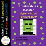 Frankenstein's Monster Mystery Picture: Nouns, Verbs, Adjectives