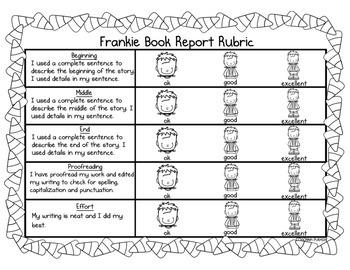 Frankie Book Report- October Fun!