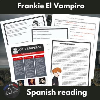 Frankie El Vampiro - Spanish sub plans/reading activity