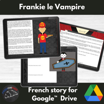 Frankie Le Vampire- French reading/sub activities -Google drive