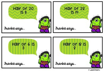 Frankie Says… halving even numbers center activity {year2tastic}