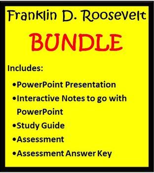 Franklin D. Roosevelt BUNDLE- 3rd Grade Social Studies
