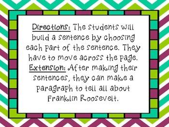 Franklin D. Roosevelt: Build a Sentence