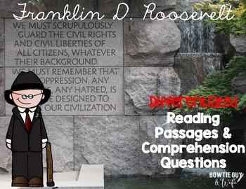 Franklin D. Roosevelt Differentiated Reading Passages