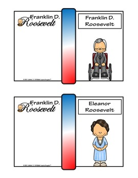 Franklin D. Roosevelt FDR Mini Research Fold-Ems, Word Wall, & Writing Templates