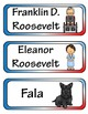 Franklin D. Roosevelt FDR Mini Research Fold-Ems, Word Wal