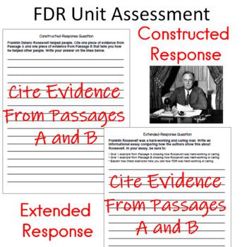 Franklin D. Roosevelt  FDR Unit Assessment