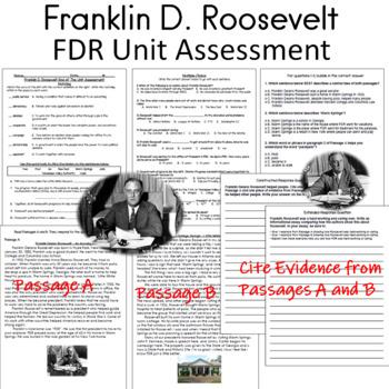Franklin D. Roosevelt  FDR Test