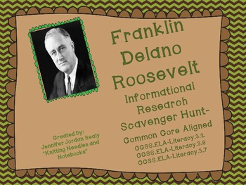 Franklin D. Roosevelt  Informational Reading Activity with