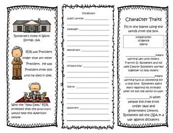 Franklin D. Roosevelt Interactive Brochure- Printable- NO PREP!