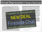Franklin D. Roosevelt: Primary Source Document w Qs- 1933 New Deal Fireside Chat