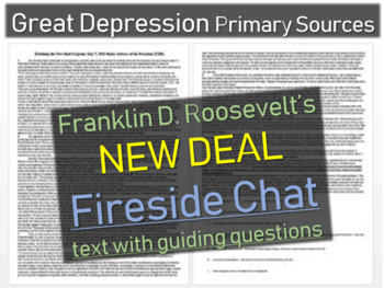 Franklin D. Roosevelt: Primary Source Document w Qs- 1933