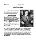 Franklin D. Roosevelt Bilingual STAAR Style Nonfiction Review