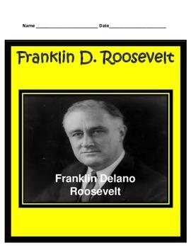 Franklin D. Roosevelt Study Guide- 3rd Grade Social Studies