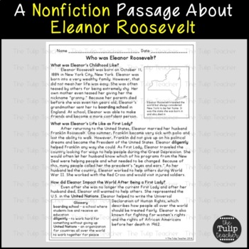 Franklin D. Roosevelt and Eleanor Roosevelt Reading Paired Passages