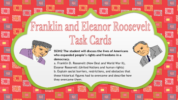 Franklin D. Roosevelt and Eleanor Roosevelt Task Cards