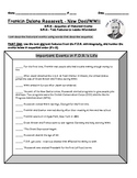 Franklin Delano Roosevelt FDR Sequencing & Text Features 3