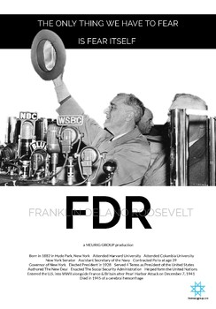 Franklin Delano Roosevelt Mini Poster (Printer Friendly)