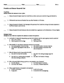 Franklin & Eleanor Roosevelt Assessment