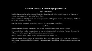 Franklin Pierce - PowerPoint Biography with Review Quiz