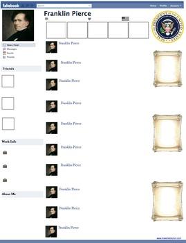 Franklin Pierce Presidential Fakebook Template