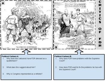 Franklin Roosevelt Political Cartoons