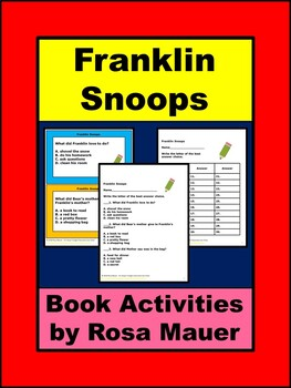 Franklin Snoops Literacy Activities