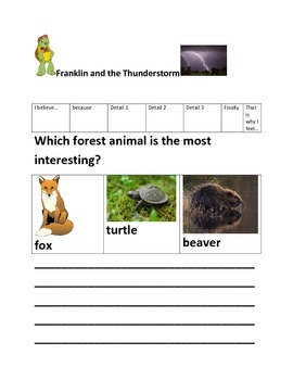 Franklin The Turtle Opinion Writing