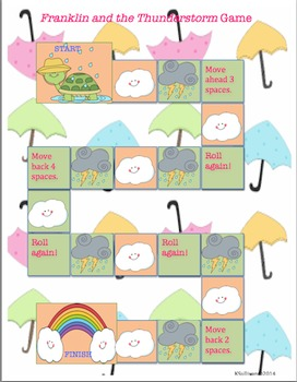 Back to School sight Words Franklin and the Thunderstorm Game Quiz