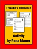 Franklin's Halloween Book Reading Comprehension Questions Activities for Kids