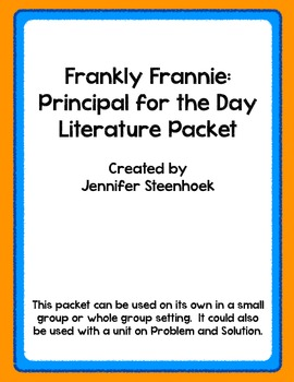 Frankly Frannie Principal for the Day Comprehension packet