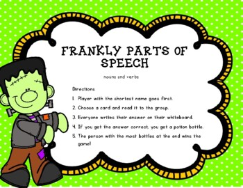 Frankly Parts Of Speech - Nouns and Verbs