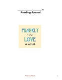 Frankly in Love: Dual Entry Reading Response Journal