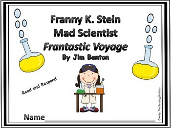 Franny K Stein Frantastic Voyage comprehension / writing ideas