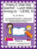 Franny K. Stein - Lunch Walks Among Us - Level N - Text De