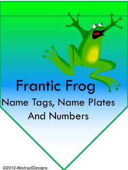 Frantic Froggy Name Plates/Tags and Numbers