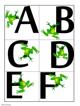 Frantic Froggy Word Wall Tags
