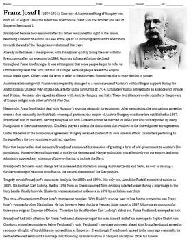 Franz Joseph Bio