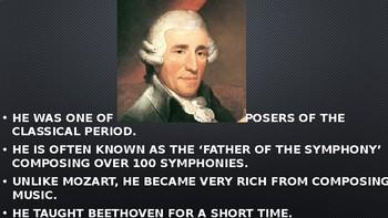 Franz Joseph Haydn PowerPoint/Listening Activity