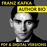 Franz Kafka Author Study Worksheet, Easy Biography Activity, CCSS