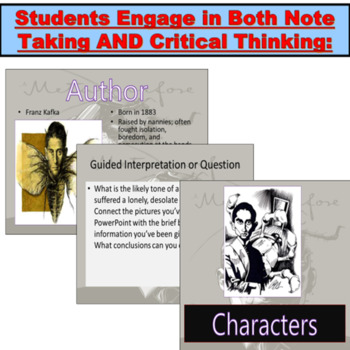 """Franz Kafka's """"The Metamorphosis"""" : Common Core, Questions, Notes"""