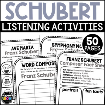 Franz Schubert, Classical Composer Music Study, January Birthday